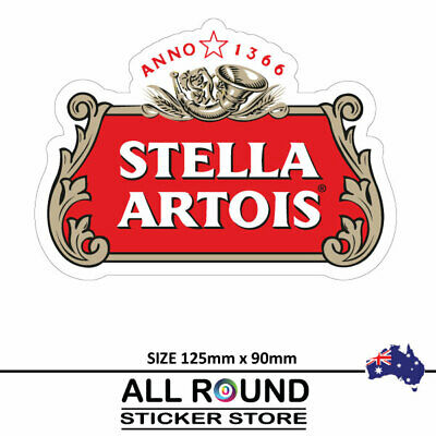 Stella Artois beer Stickers  Camping Trailer Bar Fridge car bumper sticker