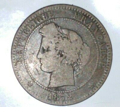 France 10 Centimes A 1872