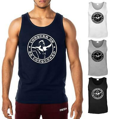 Conquer or be Conquered  Men's Gym Vest | Bodybuilding Tank Top T-Shirt Stringer