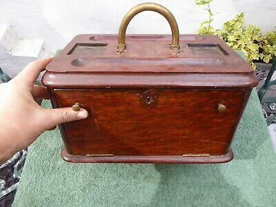 Antique Solid Wood Writing Box..needs restoration.