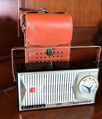 Vintage Mid Century Working Bulova Old Antique Transistor Radio - Free Shipping!