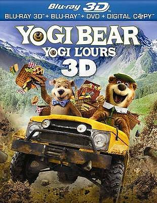 Yogi Bear (Blu-ray Disc, 2011, 3-Disc Set, Canadian French 3D)