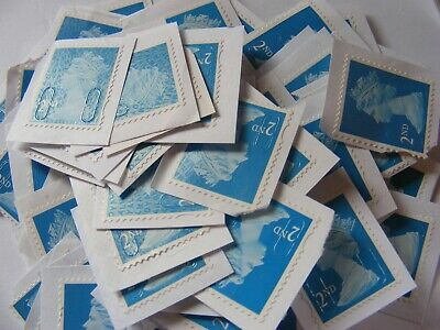 100 2nd class stamps unfranked not trimmed           (lot 2931)
