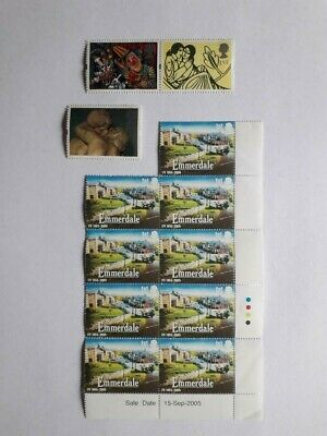 12 Mint Unused First Class Commemorative Stamps With Full Original Gum