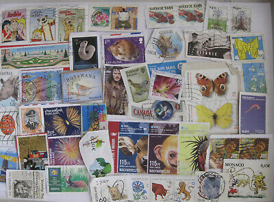 Quality World Kiloware.  500+ grams of recent foreign stamps on paper. No GB.