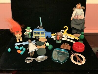 Vintage Estate Junk Drawer Lot Children's  Small Toys, Dolls, Games, Collectible
