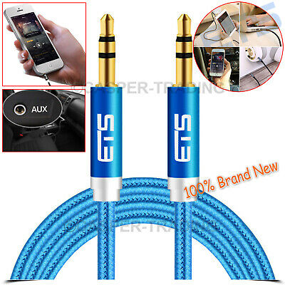 1m 3.5mm Jack to Jack Aux Cable STEREO Audio Auxiliary Lead For Headphone iPod