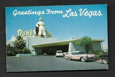 Postcard 1964 Greetings from Las Vegas NV The Dunes Hotel *1714