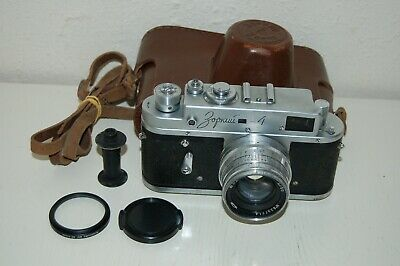 Zorki-4 Vintage 1962 Rangefinder Camera and Jupiter-8 lens. No.62025044. UK Sale