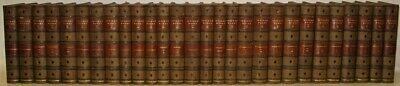 LEATHER Set;WORKS OF WASHINGTON IRVING! 1868!(COMPLETE 28VOL's!)George RARE!gift