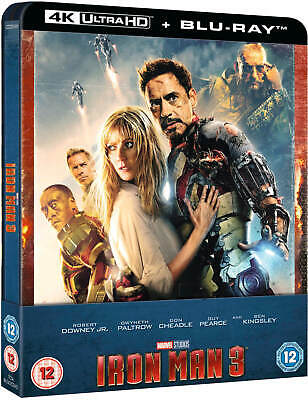 IRON MAN 3 : 4K UHD + Blu-ray, UK STEELBOOK Limited Edition, Marvel,  Pre-order
