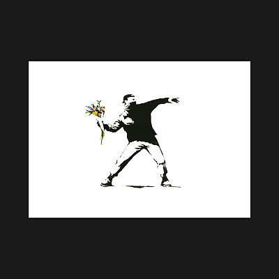 Banksy Print / Poster - Love Is In The Air - Wall Art Decor - A5 A4 A3