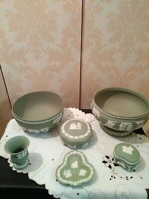 Wedgwood Collection 6 Green Jasper Pieces