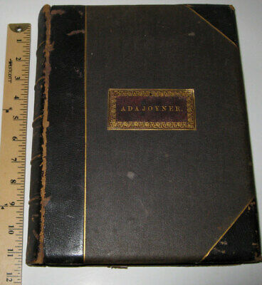 LEATHER;Works of LORD BYRON!(MASSIVE BOOK!)STEEL ENGRAVED PLATES WOMEN!1869 GIFT