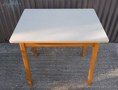Vintage Retro Formica Kitchen / Dining 1960's Mid Century Beech Table +