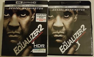 The Equalizer 2 4K Ultra Hd + Blu Ray 2 Disc Set With Slipcover Free Shipping