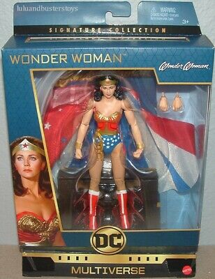 DC Multiverse Signature Collection 6.5 WONDER WOMAN FIGURE LYNDA CARTER MATTEL