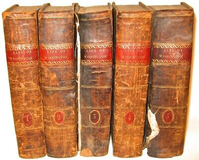 LEATHER Set;JOHN MARSHALL'S LIFE OF GEORGE WASHINGTON!(FIRST EDITION! 1804!)RARE