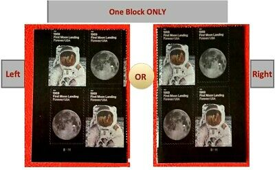 2019 First Moon Landing 50th, 11 Appollo SC #5399-5400 5400a Plate Block of 4