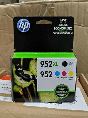 Brand New Genuine HP 952XL Black & Color Ink Combo
