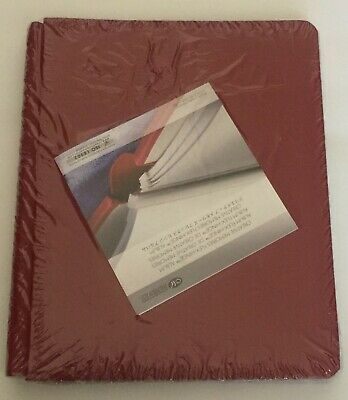 NIP Creative Memories 8 1/2X11 Cranberry Ruby Red Album with white Pages inside
