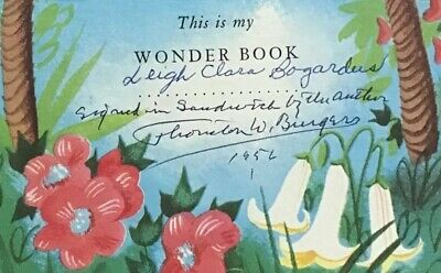 The Littlest Christmas Tree Wonder Book 1954 Autographed By Thornton W. Burgess