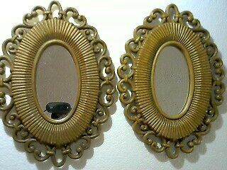 Pair of Vintage Bakalite Collectible Small wall mirrors stunning!