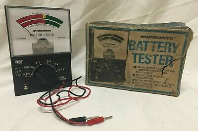 Vintage Micronta Battery Tester ~ 22-030A ~ With Original Box ~ Tested & Works!!