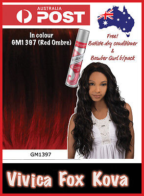 Vivica Fox Kova Deep lace front wig Red and black ombre GM1397