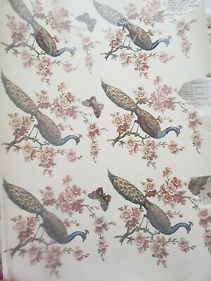 "6 Waterslide Ceramic Decals Peacock Birds and Flowers 5 1/2"" x 5"""