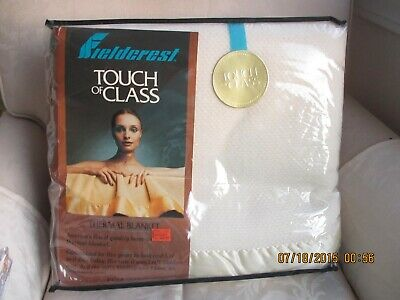 Fieldcrest  Touch Of Class 1970'S? Thermal Blanket Full Ivory New Old Stock Mint