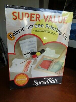 Sealed Speedball Fabric Screen Printing Super Value Kit # 4526