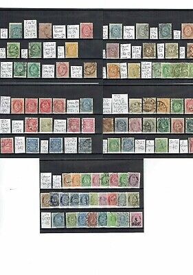 D508 Norway Norge early skillings & posthorns on 5cards c£a lot NICE LOOK!