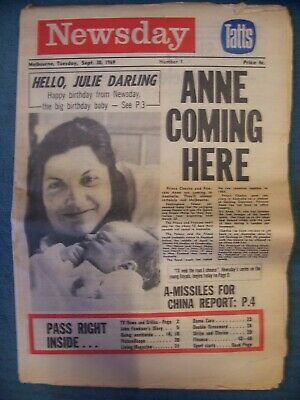 Melbourne NEWSDAY Issue #1 30/9/1969: 52 Pages