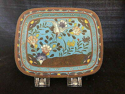 COLLECTORS: AN early 19th Century Chinese cloisonne tray - nice example