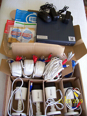 Security 4Camera Bundle by SWANN (SRPRO-T853WB4 & DVR4-1580-R) mostly NEW