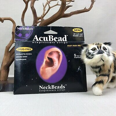 NeckBeads AcuBead Acupressure Strips for Neck & Shoulder Clear Adhesive Titanium