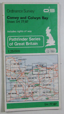 1977 Old OS Ordnance Survey 1:25000 Pathfinder Map Conwy & Colwyn Bay SH 77/87