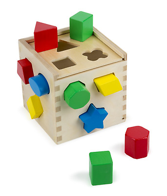 Melissa & Doug Classic Wooden Toy, Developmental Toy, Easy-to-Grip Shapes