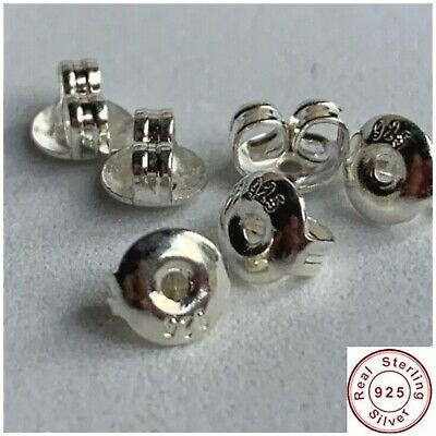 925 sterling silver back stopper earring 6X5 mm 6 pack UK seller Clearance