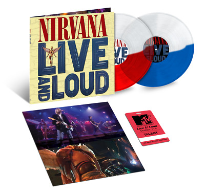 Nirvana - Live And Loud // 2xLP Vinyl limited edition on Red/Blue/Clear Split
