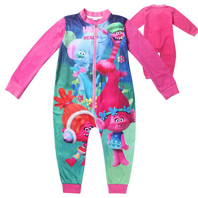 Girls Trolls Outfit Sleepwear Pajamas Cosplay Costume Clothes Pyjamas 3-10 yrs