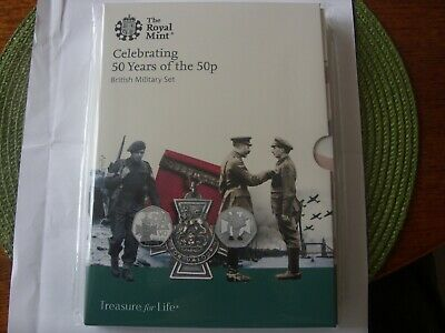 New !!!!  50 P 2019 British Military Set 50 Years Of The 50 P Uncirculated
