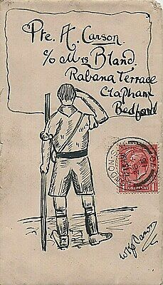 1915 London to Bedford 'Boy Scout' illustrated envelope