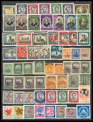 Nicaragua Postage Stamps - Mixed Collection 62 Diff. #517000