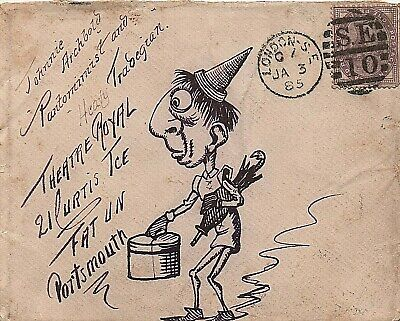 1895 illustrated envelope from London to Portsmouth
