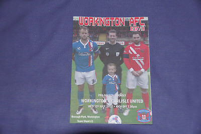 Workington Reds V Carlisle United Friendly Programme 2017/18