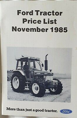 Ford Series 10 Force II Tractor Price List from 1985