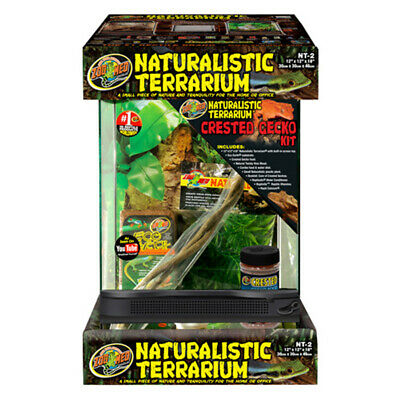 Zoo Med Naturalistic Crested Gecko Terrarium Kit for Reptiles and Amphibians