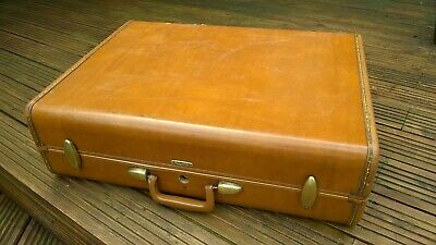 Vintage Samsonite Faux Leather Suitcase